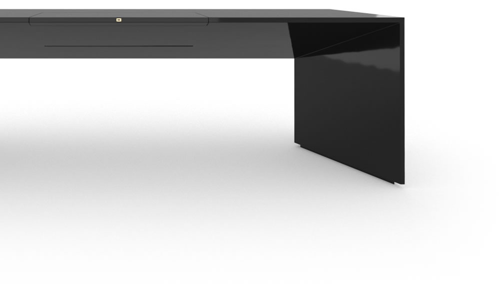 chefzimmer schreibtisch klavierlack schwarz felix schwake. Black Bedroom Furniture Sets. Home Design Ideas