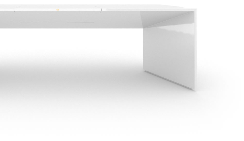 Designer Schreibtisch Weiß design schreibtisch groß klavierlack weiß felix schwake