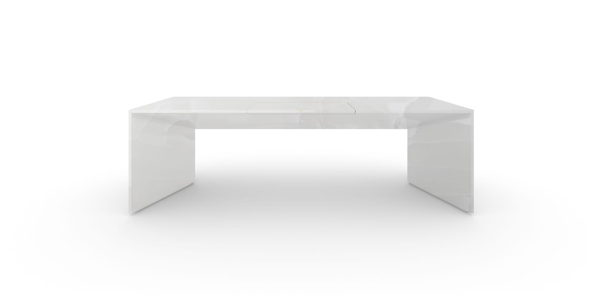 Bezaubernd Schreibtisch Weiß Groß Galerie Von Design-schreibtisch, Groß, Marmor, Weiß - Felix Schwake
