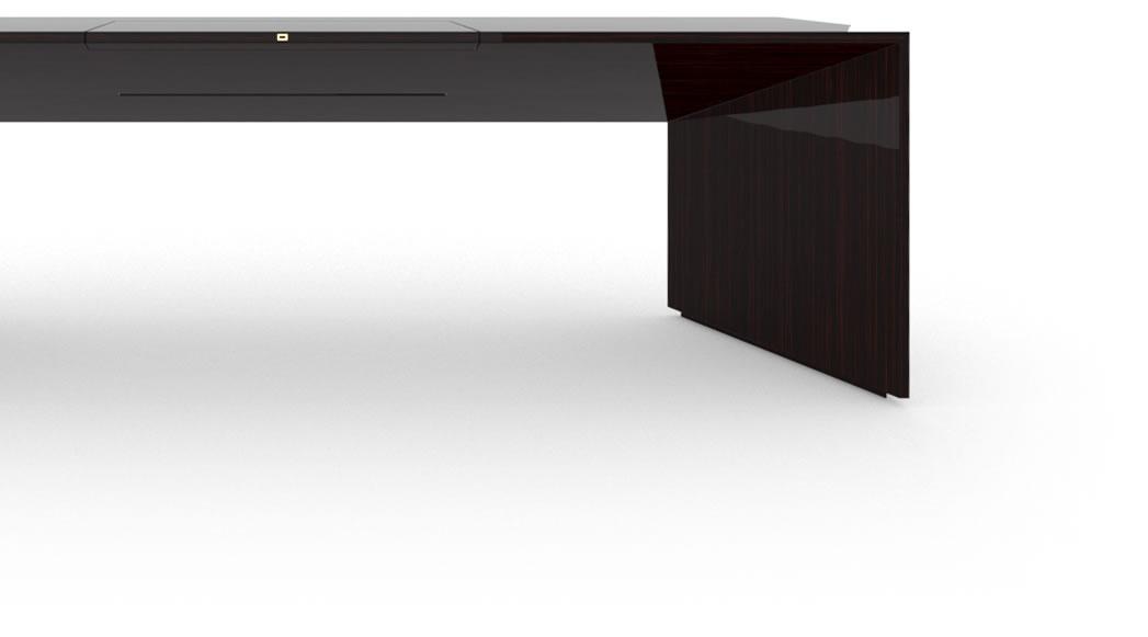 schreibtisch i edelholz makassar felix schwake. Black Bedroom Furniture Sets. Home Design Ideas