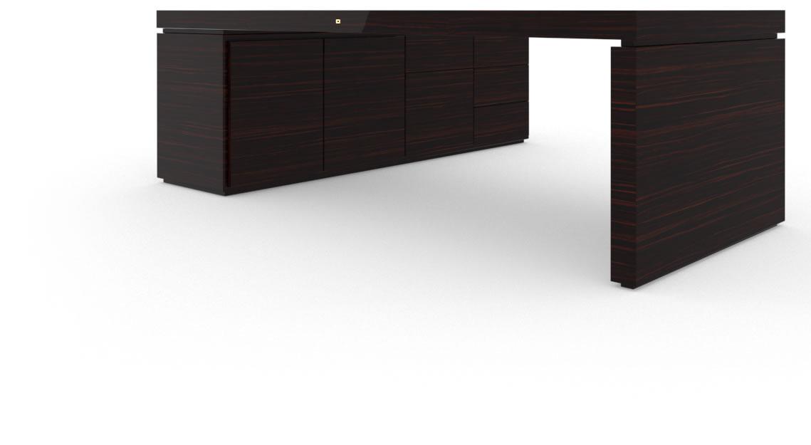 schreibtisch architektonisch edelholz makassar felix schwake. Black Bedroom Furniture Sets. Home Design Ideas