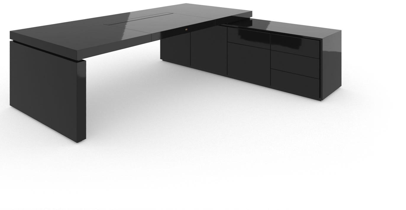 schreibtisch meisterwerk klavierlack schwarz felix. Black Bedroom Furniture Sets. Home Design Ideas