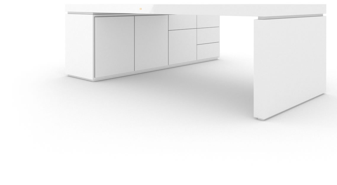 schreibtisch iv i i klavierlack wei felix schwake. Black Bedroom Furniture Sets. Home Design Ideas