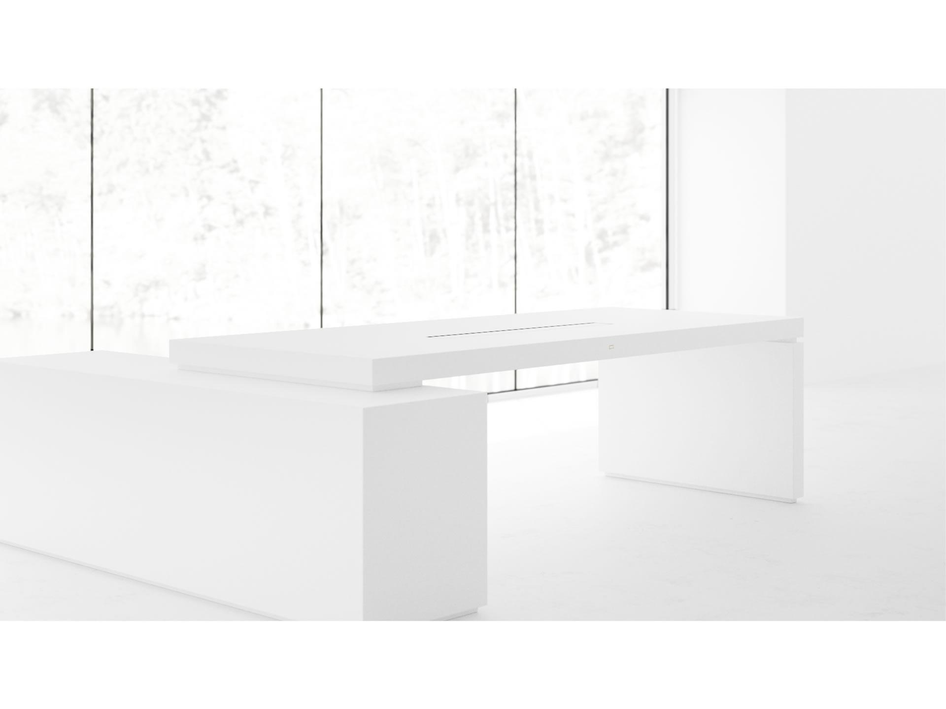 schreibtisch kunst klavierlack wei felix schwake. Black Bedroom Furniture Sets. Home Design Ideas