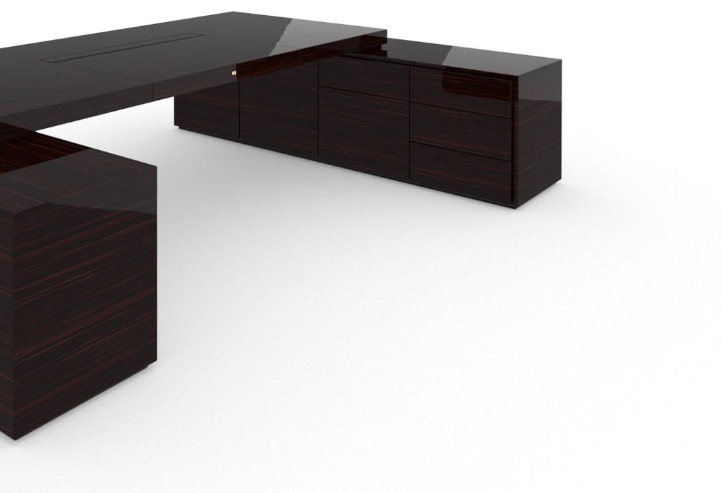 schreibtisch iv ii edelholz makassar felix schwake. Black Bedroom Furniture Sets. Home Design Ideas