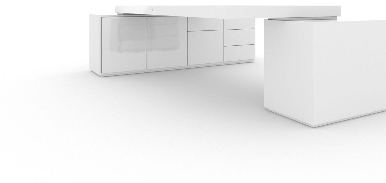 chef schreibtisch klavierlack wei felix schwake. Black Bedroom Furniture Sets. Home Design Ideas