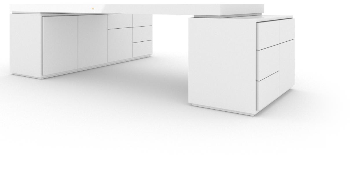 schreibtisch iv ii i klavierlack wei felix schwake. Black Bedroom Furniture Sets. Home Design Ideas
