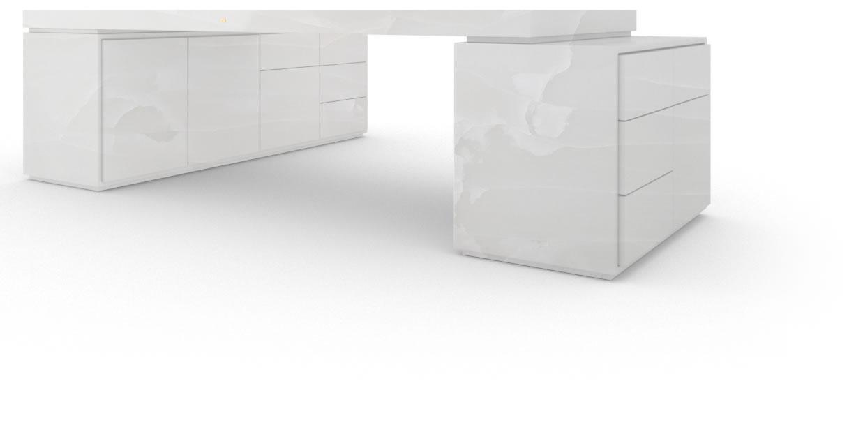 gesch ftsf hrer schreibtisch marmor wei felix schwake. Black Bedroom Furniture Sets. Home Design Ideas