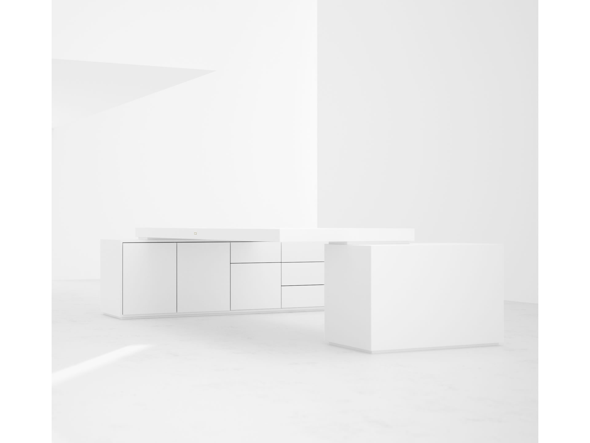 schreibtisch puristisch edelholz makassar felix schwake. Black Bedroom Furniture Sets. Home Design Ideas