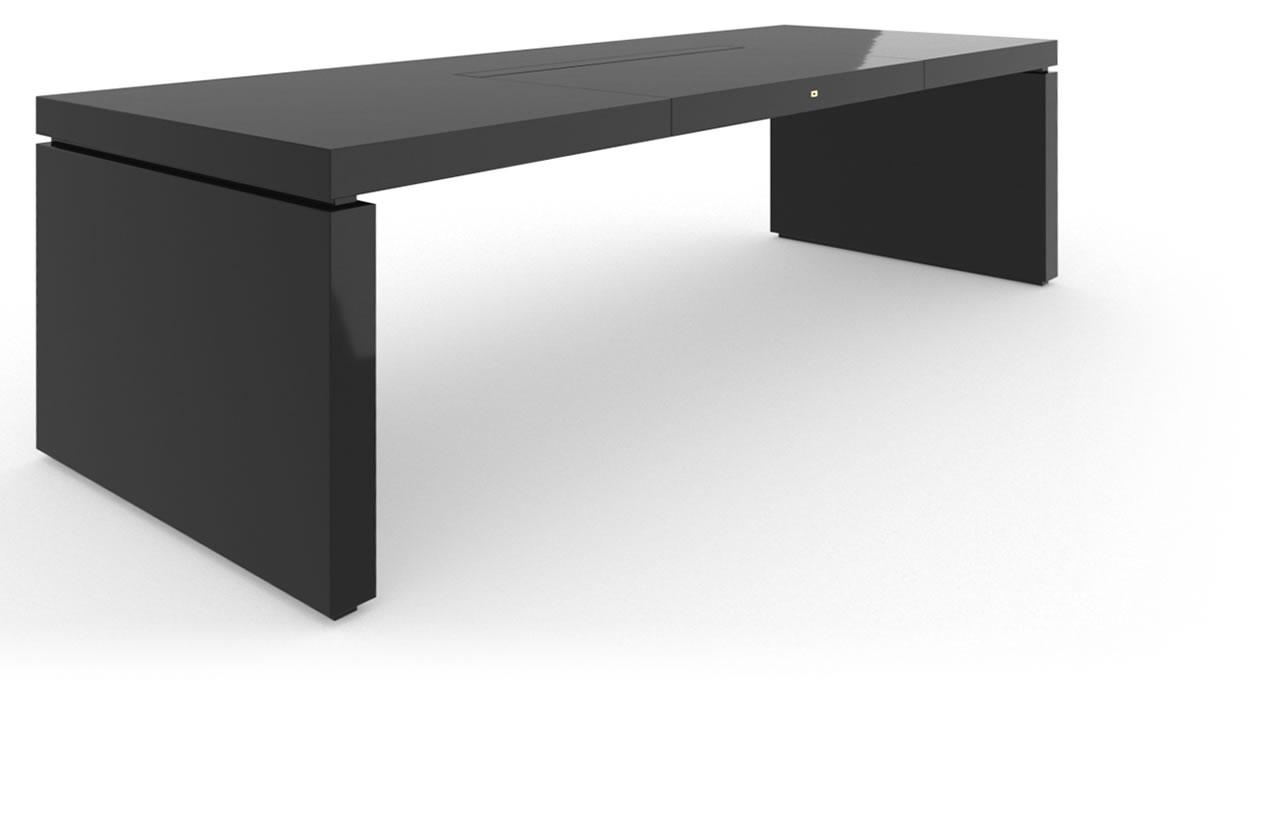 Schreibtisch iv klavierlack schwarz felix schwake for Schreibtisch chef