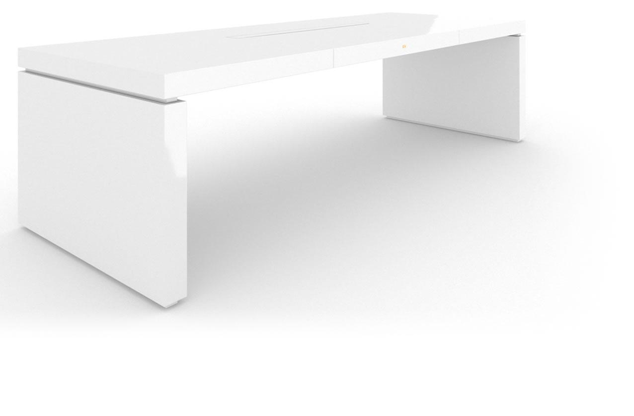 design chef schreibtisch klavierlack wei felix schwake. Black Bedroom Furniture Sets. Home Design Ideas